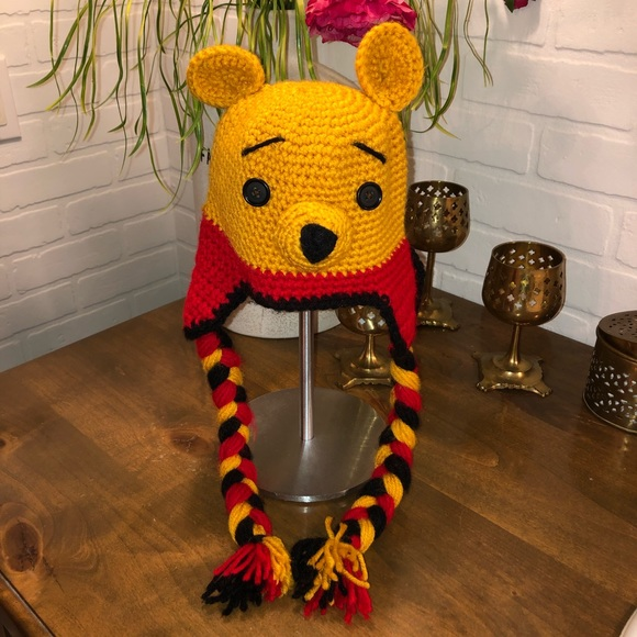 Accessories Hand Crocheted Knit Winnie The Pooh Hat Poshmark